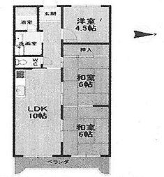 メゾン武庫之荘2番館[245号室]の間取り