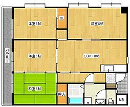 池松コーポ[3階]の間取り