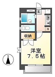 愛知県清須市西枇杷島町芳野1丁目の賃貸マンションの間取り