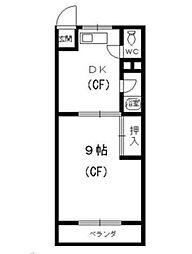 川島第二ビル[507号室]の間取り