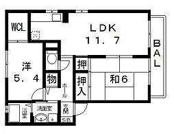 シャーメゾン三島A[202号室号室]の間取り