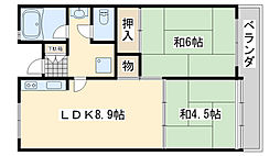 佐野湊団地1号棟[1304号室]の間取り