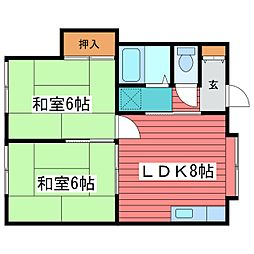 山田ハイツ[2階]の間取り