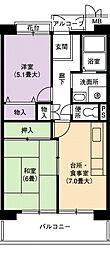 URアーバンラフレ小幡1号棟[4階]の間取り