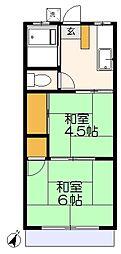 八石荘[2階]の間取り