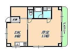 兵庫県神戸市垂水区向陽3丁目の賃貸マンションの間取り