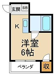 大阪府寝屋川市寿町の賃貸マンションの間取り