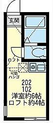 ユナイト東逸見エキュール・ポアロ[2階]の間取り