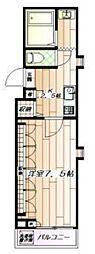 エスぺランザ2[1階]の間取り