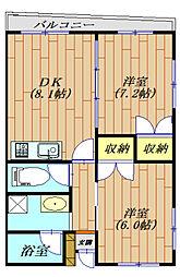 NK COURT[207号室号室]の間取り