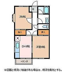メゾンシンフォニー[1階]の間取り