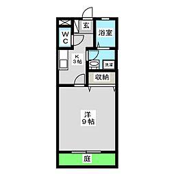 岡山県岡山市東区西大寺上2丁目の賃貸アパートの間取り