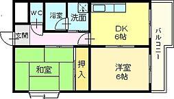 ビューラー・タキノ[2階]の間取り