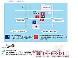 駐車場案内図。...