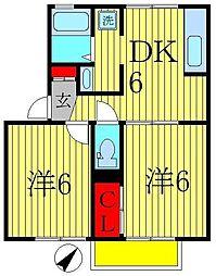 ロイヤルコートA[1階]の間取り