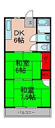 第1池田マンション[2階]の間取り