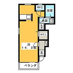 カーサ・バーリオA[1階]の間取り