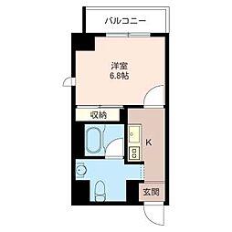 グラティチュード武蔵小杉[4階]の間取り