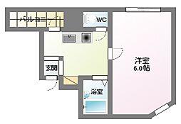 ハイコート駒川[8階]の間取り