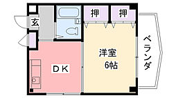 コスモ武庫川[301号室]の間取り