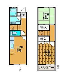 [テラスハウス] 神奈川県川崎市麻生区金程1丁目 の賃貸【/】の間取り