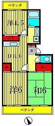 サニーハイツ清宮[3階]の間取り