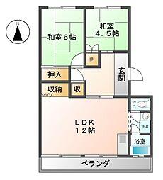 コーポ横井[3階]の間取り