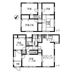 [一戸建] 神奈川県海老名市上今泉5丁目 の賃貸【/】の間取り