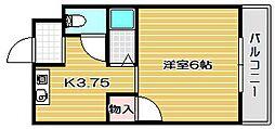 大阪府高槻市津之江町1丁目の賃貸マンションの間取り