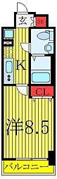 東京メトロ有楽町線 東池袋駅 徒歩4分の賃貸マンション 5階1Kの間取り