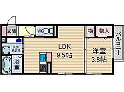 シャルム総持寺[2階]の間取り