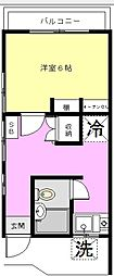 小川コーポ[201号室]の間取り