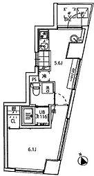 クーカイテラス白金高輪  Kukai Terrace 白金高輪[401号室]の間取り