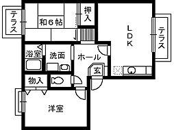 サンプライムシティ[2階]の間取り