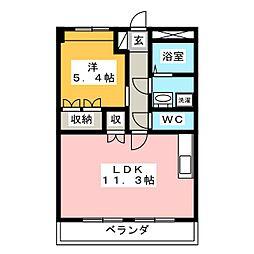 ドルジーチ[1階]の間取り