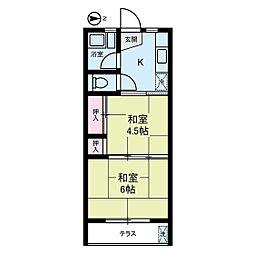 エコーマンション[1階]の間取り