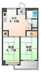 ソレイユ大曽根[4階]の間取り