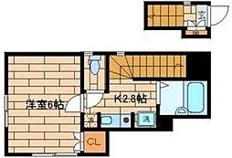 東京都杉並区下高井戸5丁目の賃貸アパートの間取り