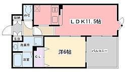 アコテドゥシエヌ夙川[302号室]の間取り