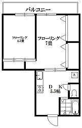 東京都世田谷区深沢4丁目の賃貸マンションの間取り