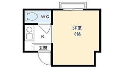第五ハイツ冨久井[305号室]の間取り