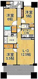 キングマンション大阪ベイ[12階]の間取り