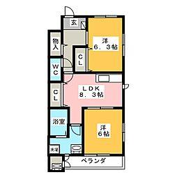 アルカサール・ティア[2階]の間取り
