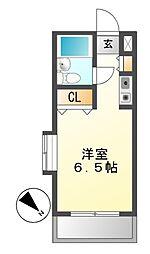 メゾン・ド・タンプル[4階]の間取り