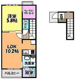 ビサイド・アヴェニュー[2階]の間取り