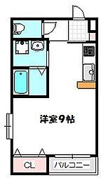 大阪府守口市八雲西町2丁目の賃貸マンションの間取り