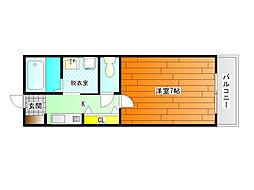 パストラル桜井[3階]の間取り