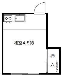 越後屋アパート[A号室]の間取り