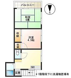 東京都調布市調布ケ丘1丁目の賃貸アパートの間取り