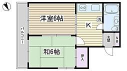 小宮ビル[4-B号室]の間取り